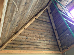 T & G Barn wood / sawn hand hewn beams also; Ceiling project in Charlotte