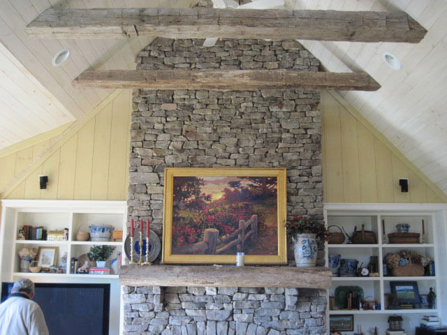 Chestnut beams, and mantel