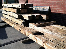 Hand Hewn beam package ready to ship