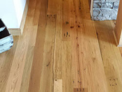 Barn wood Floor , Mixed Oak; 3-4-5 inch faces, Timber Frame home