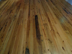 Barn Wood , Mixed oak floor; 3-4-5 inch faces, two coats high gloss