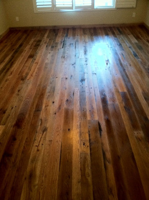 Reclaimed hardwood flooring nc reclaimed lumber nc for Recycled wood floors