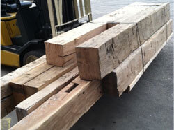 Reclaimed beam ends, perfect for Mantels