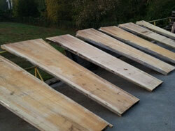 10 ft long Cypress slabs 3 inches thick