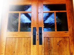Wormy Chestnut entry doors