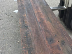 2 inch thick barn wood counter top going to a brewery in Charlotte, 12 ft long 25 inches wide
