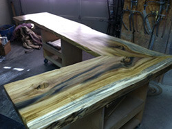L-Shaped Rainbow Poplar Bar Top