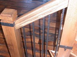 Barn Wood Stairs and Newels Blowing Rock