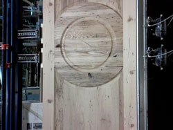 Chestnut interior door ready for finish