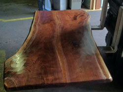 Curly Walnut island top ready to ship