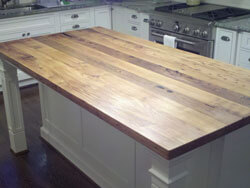 Wormy chestnut kitchen island top